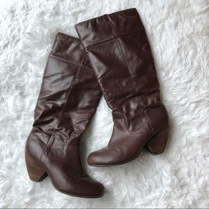 Shoes - Tall Faux Leather Heeled Boots